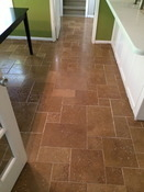Marietta Kitchen/Laundry room Travertine tile floor